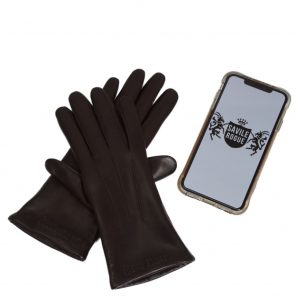 Savile Rogue Women's Leather Touchscreen Gloves