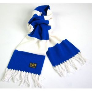 Savile Rogue Royal Blue and White Deluxe Cashmere Football Scarf