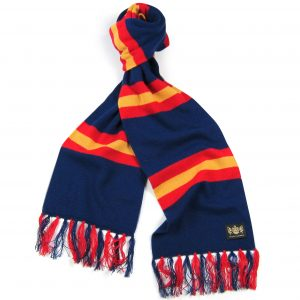 Savile Rogue Blue Red and Gold King Cashmere Football Scarf