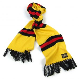 Savile Rogue Yellow Black and Red King Cashmere Football Scarf