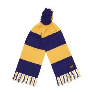 Savile Rogue Yellow and Blue King Cashmere Football Scarf