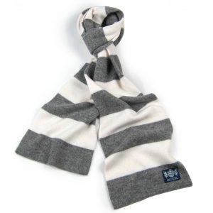 Mid-Grey and White Neutrals Scarf