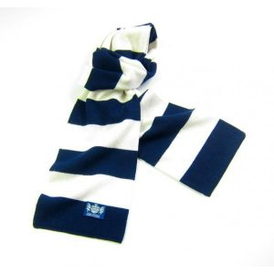 Savile Rogue Navy and White Minibar Cashmere Football Scarf