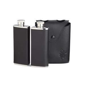 Twin Hip Flask in Leather Case