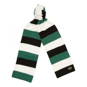 Green, Black and White King Minibar cashmere Football Scarf
