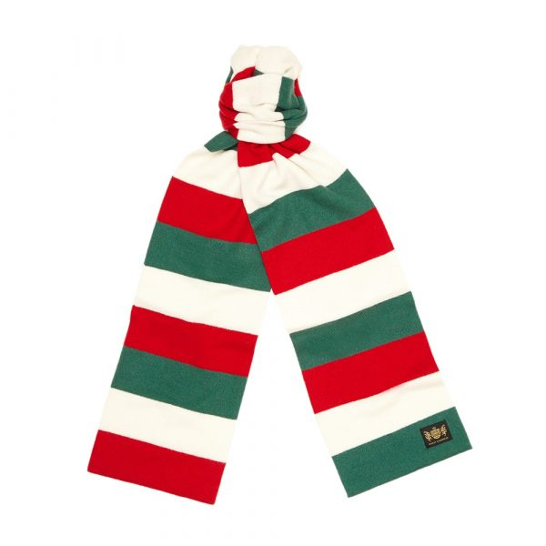 Green, Red and White King Minibar cashmere Football Scarf
