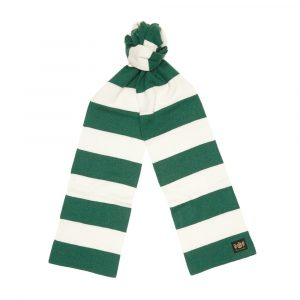 Green and White King Minibar cashmere Scarf