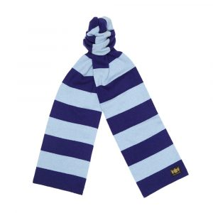 Navy and Sky King Minibar cashmere Football Scarf