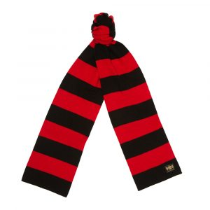 Red and Black Minibar King Minibar cashmere Rugby Scarf