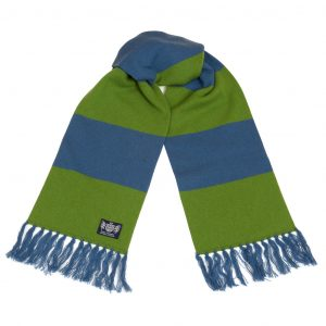 Deluxe Scarf in Petrol Blue and Green by Savile Rogue