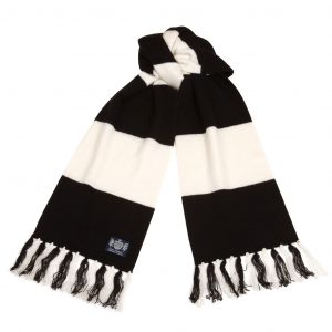 Savile Rogue Black and White Deluxe Cashmere Football Scarf