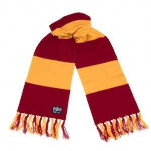 Savile Rogue Claret and Gold Deluxe Cashmere Football scarf