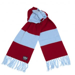 Savile Rogue Claret and Blue Deluxe Cashmere Football Scarf
