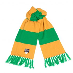 Savile Rogue Green and Gold Deluxe Cashmere Football Scarf