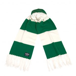 Savile Rogue Green and White Deluxe Cashmere Scarf