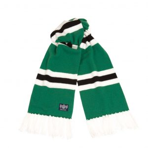 Savile Rogue Green White and Black Deluxe Cashmere Football Scarf
