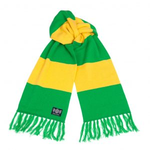 Savile Rogue Green and Yellow Deluxe Cashmere Football Scarf