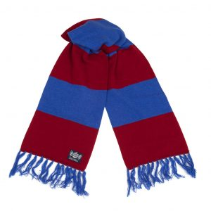 Savile Rogue Maroon and Royal Blue Deluxe Cashmere Football Scarf