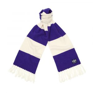 Savile Rogue Purple and White Deluxe Cashmere Football Scarf