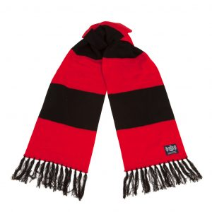 Savile Rogue Red and Black Deluxe Cashmere Football Scarf