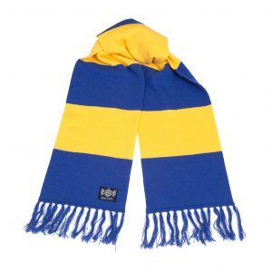 Savile Rogue Yellow and Royal Blue Deluxe Cashmere Football Scarf