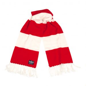 Savile Rogue Red and White Deluxe Cashmere Football Scarf