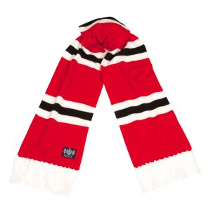 Savile Rogue Red White and Black Deluxe Cashmere Football Scarf