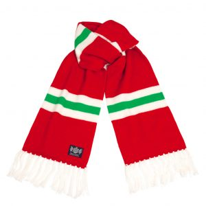 Savile Rogue Red White and Green Deluxe Cashmere Scarf