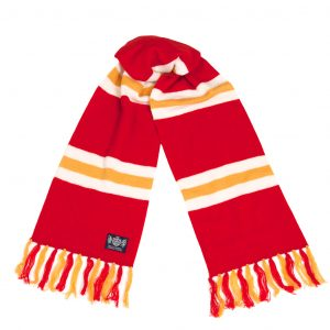 Savile Rogue Red White and Gold Deluxe Cashmere Scarf