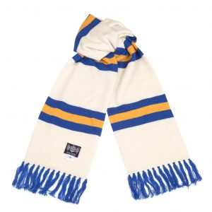 White Yellow Blue Deluxe Cashmere Football Scarf