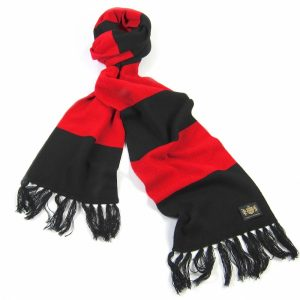 Savile Rogue Red and Black King Cashmere Football Scarf