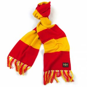Savile Rogue Red and Yellow King Cashmere Football Scarf
