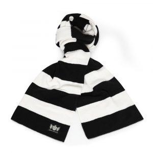 Savile Rogue Black and White Minibar Cashmere Football Scarf