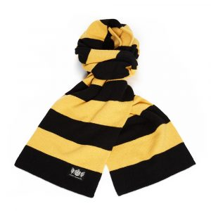 Savile Rogue Gold and Black Minibar Cashmere Football Scarf