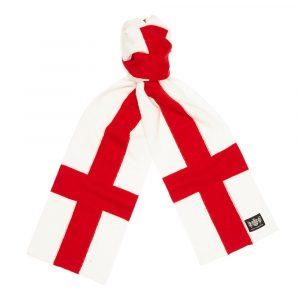Savile Rogue England (cross of St George) Minibar Cashmere England Football Scarf