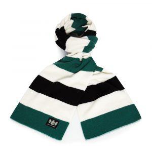 Savile Rogue Green, Black and White Minibar Cashmere Football Scarf