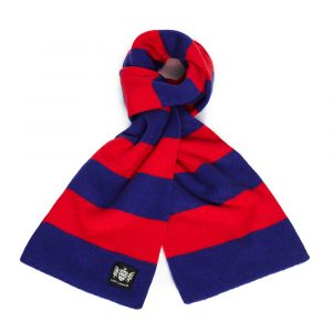 Savile Rogue Navy and Red Minibar Cashmere Football Scarf