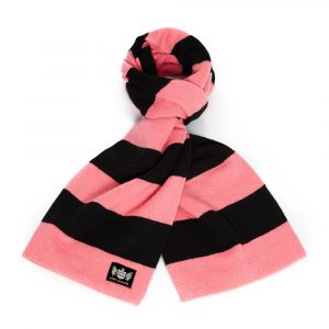 Savile Rogue Pink and Black Minibar Cashmere Football Scarf