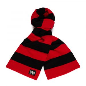 Savile Rogue Red and Black Minibar Cashmere Football Scarf