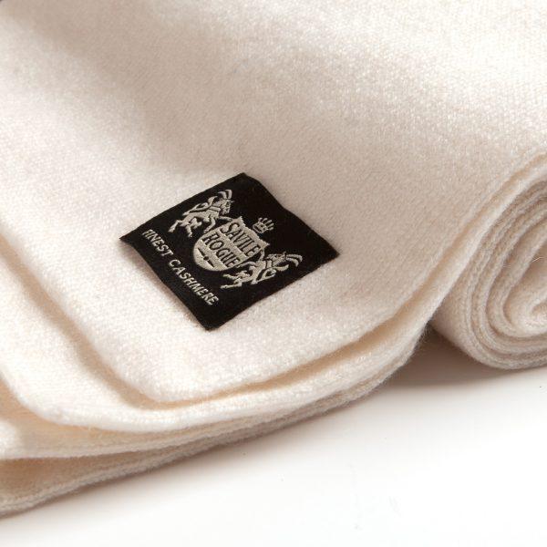 Neutral White Cashmere luxury Scarf