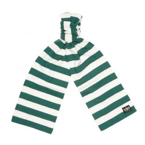 Savile Rogue Green and White Microbar Cashmere Football Scarf