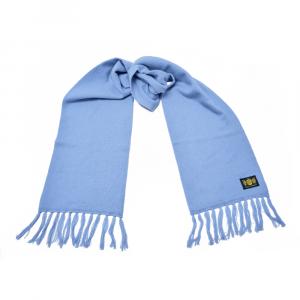 Cashmere Plain Knit Scarf in Sky Blue