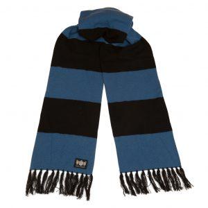 Savile Rogue Black and petrol blue Superking scarf