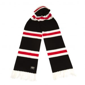 Savile Rogue Black White & Red Superking scarf