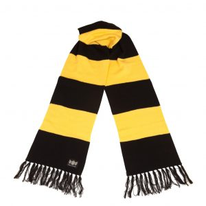 Black and Yellow Superking Cashmere Football Scarf