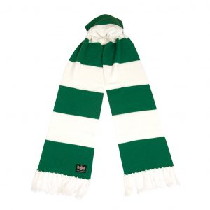 Savile Rogue Green and White Superking Cashmere Football Scarf