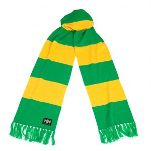 Savile Rogue Green and Yellow Superking Cashmere Football Scarf