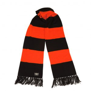 Savile Rogue Orange and Black Superking Cashmere Football Scarf