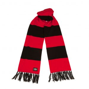 Savile Rogue Red and Black Superking Cashmere Football Scarf