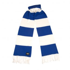 Savile Rogue Royal Blue and White Superking Cashmere Football Scarf